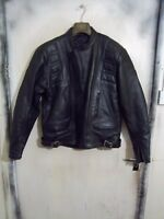 VINTAGE 80'S BELSTAFF LEATHER TWIN TRACK MOTORCYCLE JACKET SIZE 48