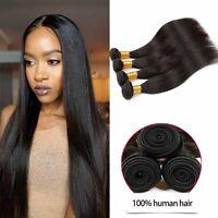 Virgin 100% Brazillian Weave Human Hair 3 Bundles Extensions Free Shipping USA