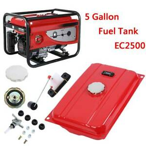 5 Gallon Generator Gas Tank Fuel Filter Cap Gauge Petcock For EC2500 Universal