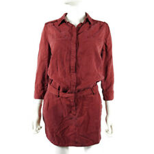 5c8f64b30ed Etienne Marcel Womens Tunic Shirt Dress Size XS Red Burgandy Military  Button Up