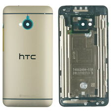 Original HTC ONE M7 Back Cover Gehäuse Akku Deckel Schale Kamera Linse, GOLD