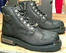Harley-Davidson Men's Size 7 1/2 M Side Zipper Motorcycle Boots Daleview D93519