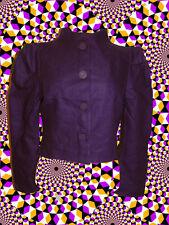 81✪  Twiggy Jacke Sixties Stil Retro 60er Jahre gerüscht lila Gr. S