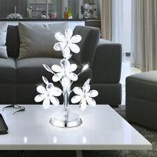 Schreib Tisch Arbeits Zimmer Steh Beleuchtung Acryl Kristalle klar Chrom