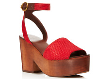 Tory Burch Tory Burch CAMILLA Sandals Exotic Red Mult Sz
