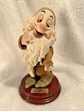 SLEEPY 1994 Disney Signed GIUSEPPE ARMANI Italy Figurine Statue 0915C Mint Rare