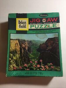 Whitman Deluxe Guild Puzzle Vintage 320 Piece ZION NATIONAL PARK Complete