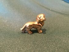 Vintage Small Gold Cramic Beagle Dog - Very Nice!!