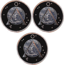 """Stargate SG1 Project Earth Set of 3 Embroidered 3 1/2"""" Diameter Patches"""
