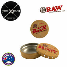 RAW ROLLING PAPERS POP TOP CLICK TIN - CLICK CLACK TOBACCO STORAGE TIN