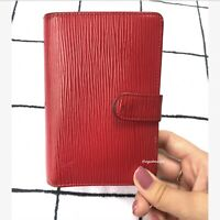 Louis Vuitton Authentic Epi Leather Red French Wallet