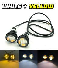 White / Yellow Switchback 10W High Power 23mm LED Eagle Eye Spot DRL Marker indi