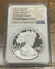 2021 W American  Silver Eagle 1 oz Congratulations Set NGC PF70 FDOI  FIRST DAY