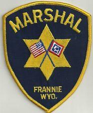 Wyoming Marshal Frannie Police Polizia PATCH DISTINTIVO ricamate 80er/90er anni