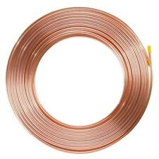 """Brake Pipe Copper Line 1/4"""" 25Ft Joiner For Nuts Ends Tubing Joint Pipe Fittings"""