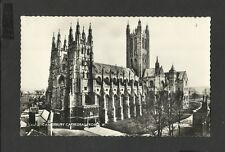 Vintage Valentine Real Photo  Postcard Canterbury Cathedral from South West