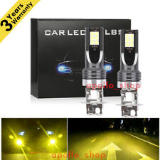 H3 LED Fog Lights Conversion Bulbs Kit 350W 4000LM Bright 3000K Yellow HID Lamps