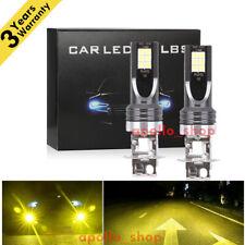 H3 LED Fog Lights Conversion Bulbs Kit 350W 4000 LM Super Bright 3000K Yellow PO