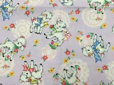 RPF05 Japanese Asian Vintage Style Retro Baby Lamb Cotton Quilt Fabric