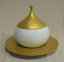 Rosenthal Wiinblad Gold Sarastro Magic Flute Covered Vegetable Bowl & Underplate