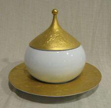 Rosenthal Wiinblad Gold Sarastro Magic Flute Covered Vegetable Bowl & Underplate
