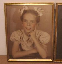 SUPERB Mid Century Photo YOUNG LADY w BOWS in Hair CLASSIC!! Nice Overall!!