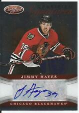 2012-2013 PANINI CERTIFIED JIMMY HAYES ROOKIE CARD AUTOGRAPH