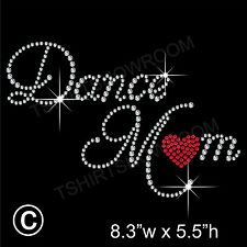 """Dance Mom"" Rhinestone Transfer Hotfix Iron on Motif Appliqué with a Free Gift"