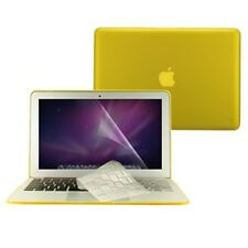"""3 in 1 Rubberized YELLOW Case for Macbook AIR 13"""" A1369 + Key Cover + LCD Screen"""