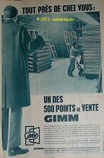 Publicite Originale de 1957 GIMM MENUISERIE FENETRES POINT DE VENTE PUB AD
