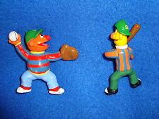 Sesame Street Bert and Ernie Baseball PVC Figure lot 2 pcs