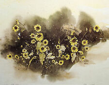 "Ben Williams ""Nature's Way"" Hand Signed Numbered Offset Lithograph of flowers"