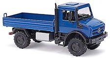 Mercedes-Benz Unimog U 5023 Flatbed 2015 blue blue 1:87 Busch