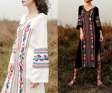 Vestito Estate Caftano Donna Tunica Ricamata Woman Summer Dress Kaftan KAFT002 P