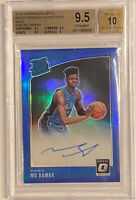 ROOKIE! 2018-19 Mo Bamba Optic RR BLUE (BLUE HOLO) (#10/49) BGS 9.5/10 🔥