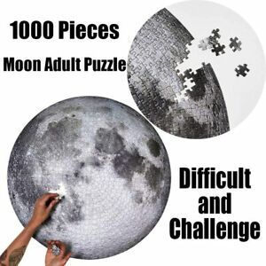 1000 Piece Puzzles for Adults Round Moon Jigsaw Puzzle Gradient Puzzle Gift Kids