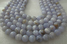 Bluelace Agate stone MALA 108+1 BEADS 10 MM Rosary Top Quality