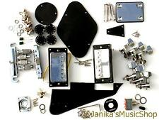 Diy guitare électrique kit bridge pickups machines noir plastique pots boutons lp