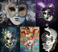 5D DIY Full Drill Diamond Painting Kits Art Crafts Home Decor Masquerade Mask
