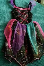 haloween costume girl witch scary 3-4 years