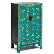 Made to Order Golden Dragon Oriental Painted Solid Wood Teak & Gold Cabinet M