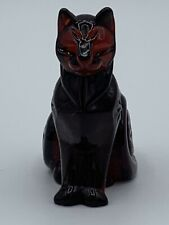 FRANKLIN MINT CURIO CABINET CATS COLLECTION - RUBY GLASS MINT