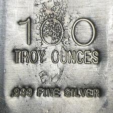 100 oz Heraeus Silver Bar (Poured)