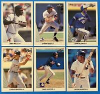 (6) 1990 Leaf Baseball Rookie Card Lot Sammy Sosa David Justice John Olerud