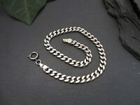 Schönes 925 Silber Armband Panzerkette Unisex Damen Herren Klassisch Elegant