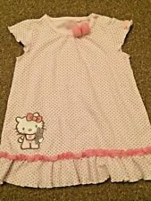 Girls Hello Kitty Pink Grey Spotty Top Age 12-18 Months TU B15