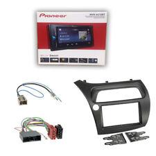 Pioneer MVH-A210BT Radio+ 2-DIN Blende+ ISO Adapter für Honda Civic VIII ab 2006