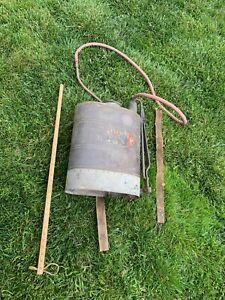 VTG copper 5gal backpack vineyard sprayer THE CHAMPION hand painted advertising