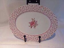 "Johnson Brothers ""Rose Bouquet"" China Serving Vegtable Bowl 9-1/8 / Platter 12"""