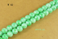 200Pcs 4mm Green Lampwork Round Czech Glass Loose Beads  W42